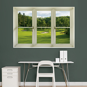 Spring Golf Tee Box: Instant Window Fathead Wall Decal