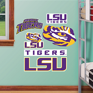 LSU Tigers - Team Logo Assortment Fathead Wall Decal
