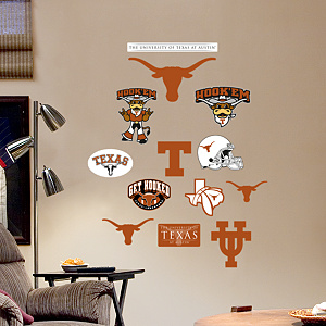 Texas Longhorns - Team Logo Assortment Fathead Wall Decal