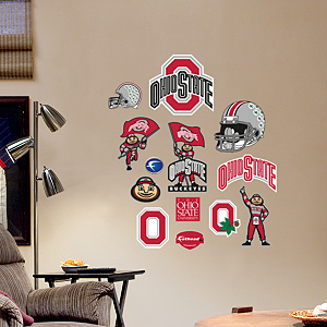 Ohio State Buckeyes - Team Logo Assortment Fathead Wall Decal