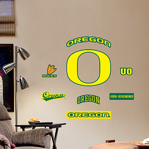 Oregon Ducks - Team Logo Assortment Fathead Wall Decal