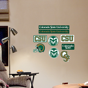 Colorado State Rams - Team Logo Assortment Fathead Wall Decal