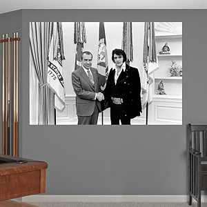 Elvis with President Nixon Mural Fathead Wall Decal