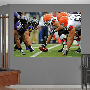 Browns-Ravens Line of Scrimmage Mural Fathead Wall Decal