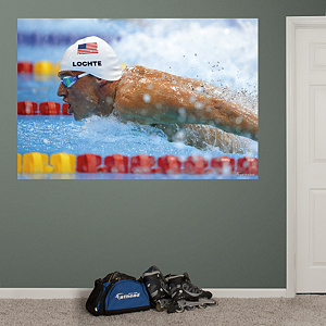 Ryan Lochte Up Close Mural  Fathead Wall Decal