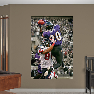 Ed Reed Playoff Interception - In Your Face Mural