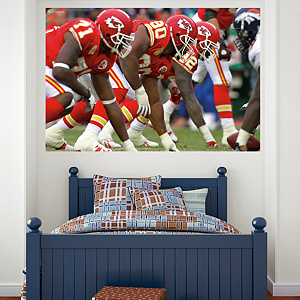 Chiefs Line In Your Face Mural Fathead Wall Decal