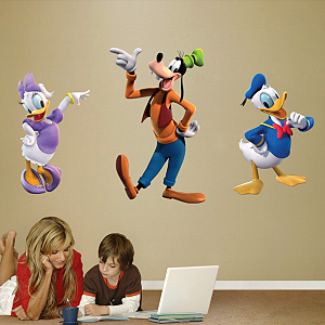 Donald, Daisy & Goofy Fathead Wall Decal