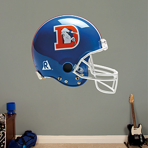 Denver Broncos Throwback Helmet Fathead Wall Decal