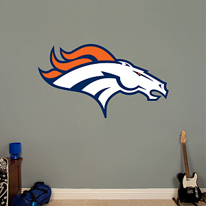 Denver Broncos Logo Fathead Wall Decal