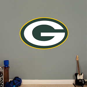 Green Bay Packers Logo Fathead Wall Decal