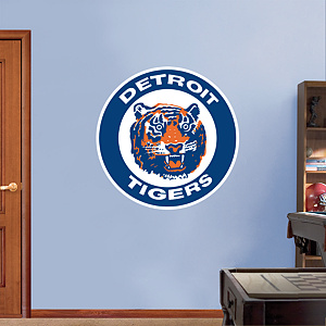 Detroit Tigers Classic Logo Fathead Wall Decal