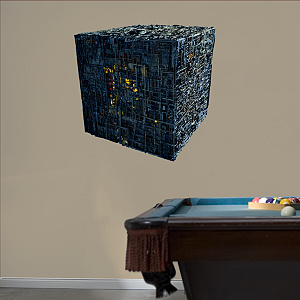 Borg Cube Fathead Wall Decal