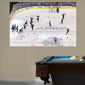 Los Angeles Kings Overhead Stanley Cup Mural