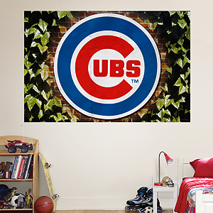 Chicago Cubs Ivy Logo Mural