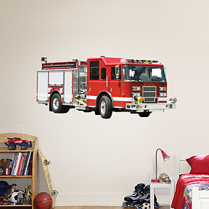 Fire Truck Fathead Wall Decal