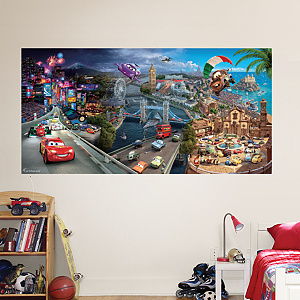 Cars 2 Mural Fathead Wall Decal