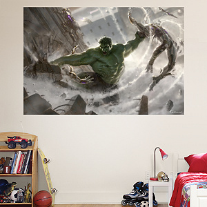 Hulk: The Incredible Avenger Mural  Fathead Wall Decal