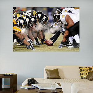 Steelers-Ravens Line of Scrimmage In Your Face Mural