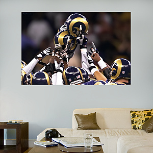 Rams Helmets In Your Face Mural
