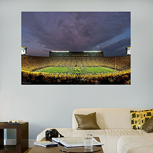 Michigan Wolverines - Night Game at Michigan Stadium Mural
