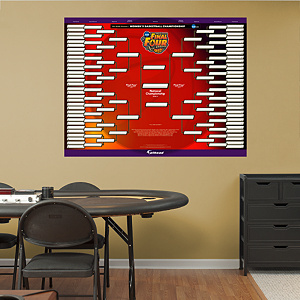2013 NCAA® Women's Division I Basketball Championship Bracket Fathead Wall Decal