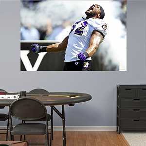 Ray Lewis Making An Entrance -  In Your Face Mural Fathead Wall Decal