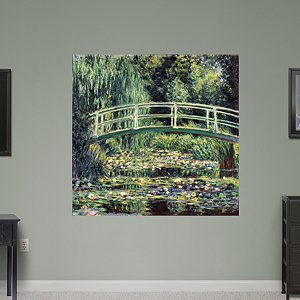 White Waterlilies by Claude Monet Fathead Wall Decal