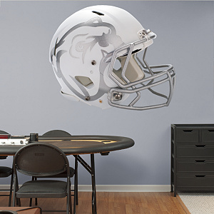 Mississippi State Bulldogs Helmet - White Fathead Wall Decal