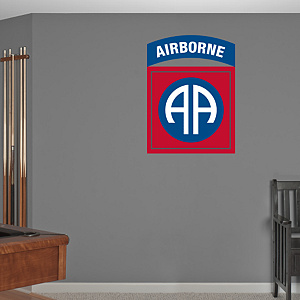 82nd Airborne Insignia Logo Fathead Wall Decal