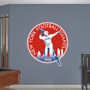 New York Giants Classic Logo Fathead Wall Decal