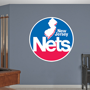 New Jersey Nets Classic Logo Fathead Wall Decal