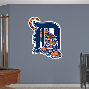 Detroit Tigers Logo Fathead Wall Decal