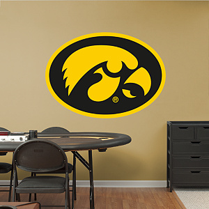 Iowa Hawkeyes Logo Fathead Wall Decal