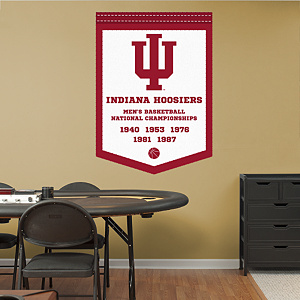 Indiana Hoosiers Men's Basketball National Champions Banner Fathead Wall Decal