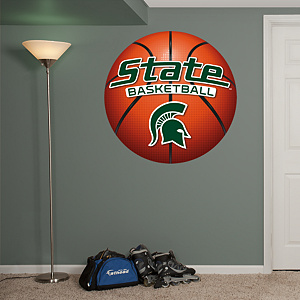 MSU Spartans Basketball Logo Fathead Wall Decal