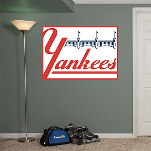 New York Yankees Classic Logo Fathead Wall Decal