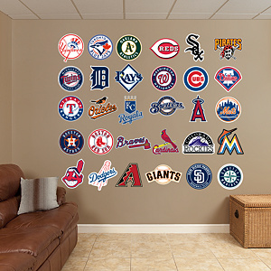MLB Logo Collection  Fathead Wall Decal