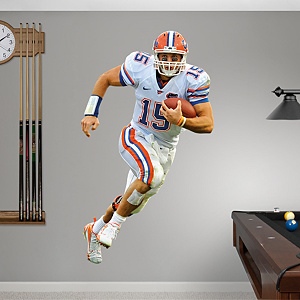 Tim Tebow Florida - White Fathead Wall Decal