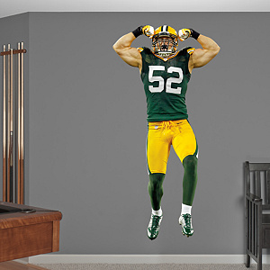 Clay Matthews Flexing Fathead Wall Decal