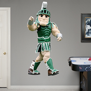 Life Size Michigan State Spartans Mascot Sparty Fathead Wall Decal