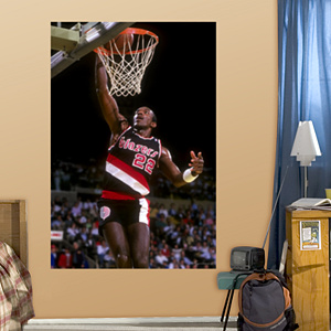 Clyde Drexler Trail Blazers Mural Fathead Wall Decal