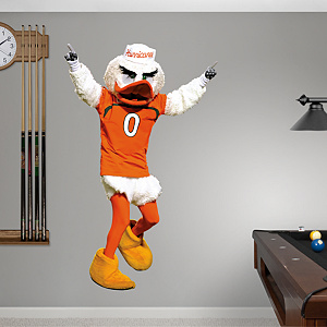 Miami Mascot - Sebastian Fathead Wall Decal