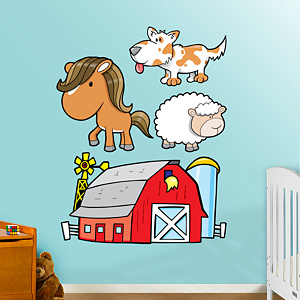 Farm Animals Group Two Fathead Wall Decal