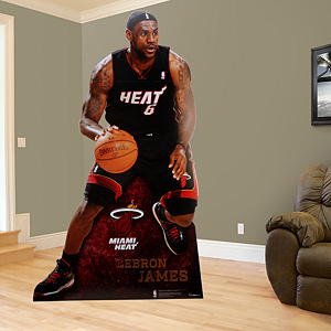 LeBron James Fathead Stand Out