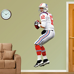 Tom Brady AFL Fathead Wall Decal