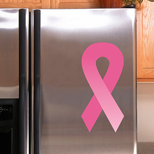 Pink Awareness Ribbon Decal