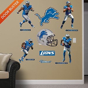 Detroit Lions Power Pack Fathead Wall Decal