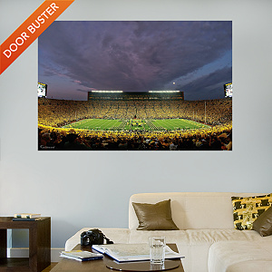 Michigan Wolverines - Night Game at Michigan Stadium Mural Fathead Wall Decal
