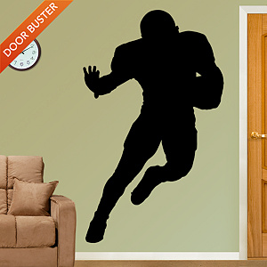 Football Player Silhouette Fathead Wall Decal
